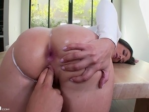 Nice ass babe with natural boobs having her anal blasted hardcore