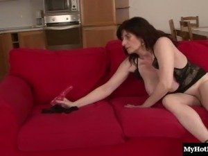 Naughty mature tart gets her cunt rammed with a thick black cock