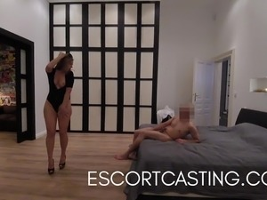 Wild Fucking Escort Blows Me and We Fuck Right In The Kitche
