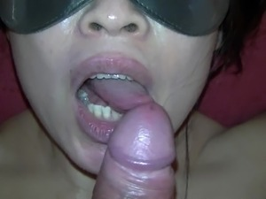 sensual blowjob with disgusting surprise