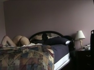 Brunette wife with sexy big booty caught cheating in the motel room