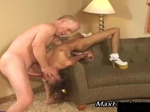 Mya might be a fragile girl but she still wants that mature cock