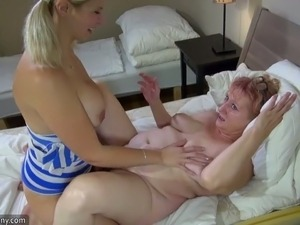 This old woman is not that bad and I enjoyed fucking her with a strap on dildo