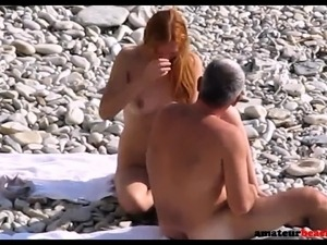 Big ass at beach