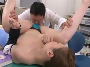 Luscious Japanese bombshell Yui Tatsumi likes being poked with cocks