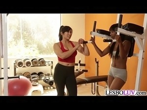 Mia Li is a very dedicated lesbian trainer for Sarah Banks
