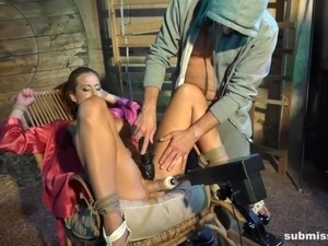 Submissed.com Glamour brunette gets machine fucked