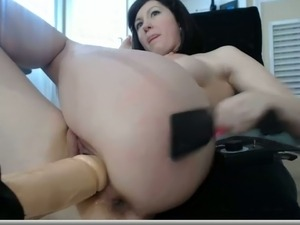 Passionate girlfriend squirts with pleasure in solo video