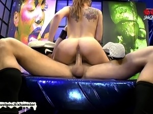Monster Cock Makes Young Bibi Moan - German Goo Girls