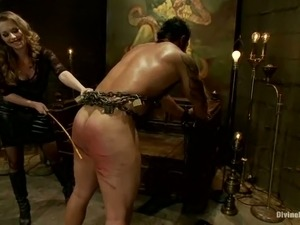 Bounded Guy Getting Crazily Spanked before Pegging by Mistress T