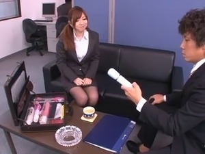 Reality office seen of Asian bimbo being ravished hardcore in office