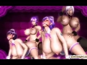 3D anime shemale maids with bigboobs foursome groupsex