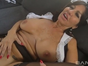 Extremely phat European housemaid Tara Holiday gets wild with black landlord...