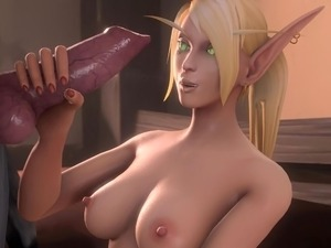blud Elf Alori gets fucked