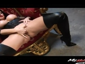 Sexy mistress wants to feel two cocks up her throbbing holes