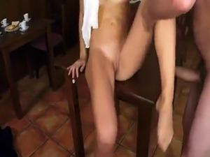 Arab black dick and  muslim sexy girls Hungry Woman Gets Food and