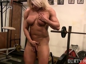 Blonde British Muscle Bombshells Big Clit