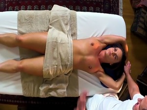 Massage loving babe pussyfucked from behind