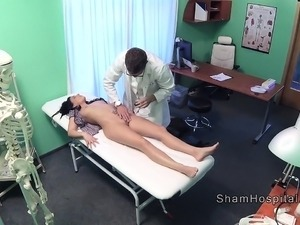 Doctor trying to keep calm sexy patient