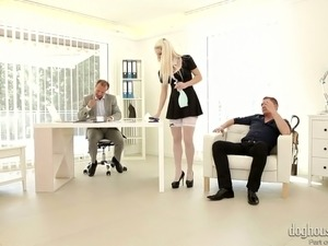 Cock hungry temptress Blanche Bradburry needs both ends filled