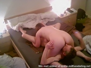 Horny bitch fucks with her date