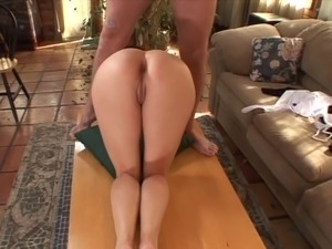 Perfect young schoolgirl sits on his face and then sucks a load from his cock