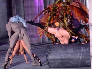 3D Babes Ravaged by Monsters From Hell!