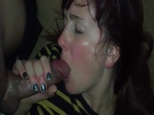 Wild student gives me a blowjob