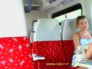 Cock flashing in the train