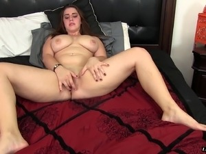 Lanie Morgan is a chubby brunette in need of a boner
