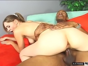 Pigtails hot ass doll in miniskirt raising legs up while her anal is screwed...