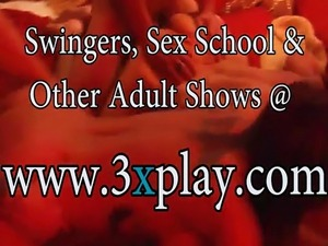 Married partners swinging and orgy in Playboy mansion