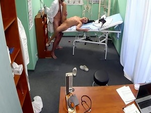 Nurse babe pounded and creamed by doctor
