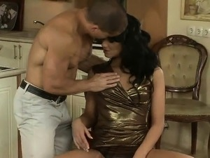 Brunette house wife sucks and fucks stud hardcore in...