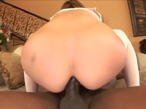Redhead Goes Wild Over BBC Anal Sex