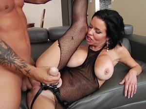 Poor dude submits to his wife holding hostage his cock while penetrating his...