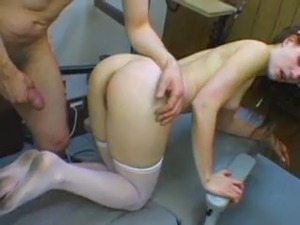 Skinny nurse with hard cock