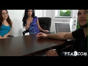 Babe is awarded with hot fuck