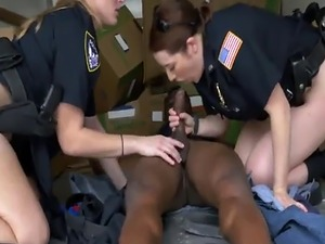 Nasty cops abusing black smuggler dong in truck