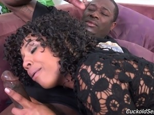 Mature fantastic white redhead woman and sexy black milf have interracial...
