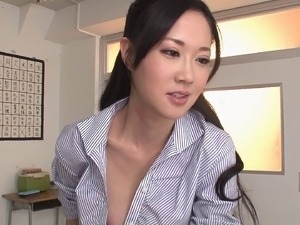 Hot Sayuki gets held and pounded rough in a classroom