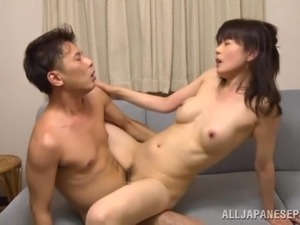 Japanese housewife Eriko Miura gets fondled and fucked by her hubby