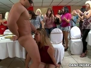 Milfs party in a cafe transforms into crazy cock-sucking action