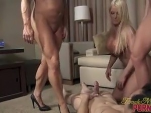 3 Muscle Women Fuck Their Toy Boy