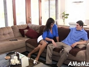 Lusty mom acquires sits down on dick for a hawt ride