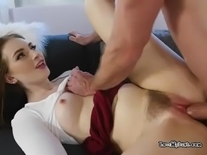 Gorgeous Babe Maya Kendrick Gets Hairy Pussy Ruined