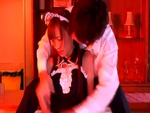 Japanese maid cocksucking in fantasy roleplay