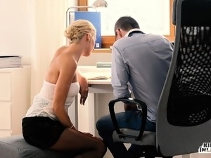 KINKY INLAWS - Hot Blonde stepmom fucked hard by stepson