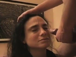 Hypnotized amateur facial