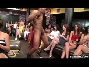 Ladies Suck Swinging Big Black Cock